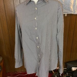 Lands End checked button up shirt